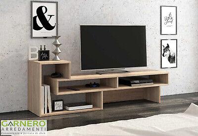 Parete attrezzata HELEN rovere chiaro mobile soggiorno moderno design salotto tv