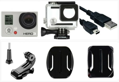 Used GoPro HERO 3 White 1080P 5MP HD Camera Camcorder Wi-Fi waterproof Case USA
