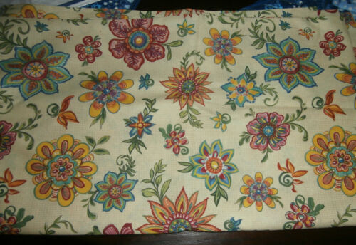 Lovely Vintage Legacy Studio IKAT Floral Unused Fabric 72 x 43  Two Yards