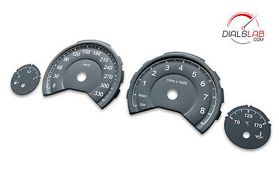 3D BMW M3 M4 F80 F82 F83 - Speedometer dials from MPH to Km/h cluster gauges