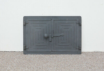 36,5x31,5 Cast iron fire door clay pizza stove smoke house DZ013 bread oven