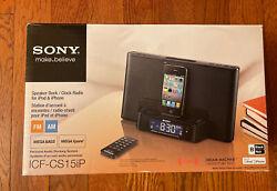 New Sony ICF-CS15iP Speaker Dock/ Clock Radio for iPod & iPhone Dream Machine