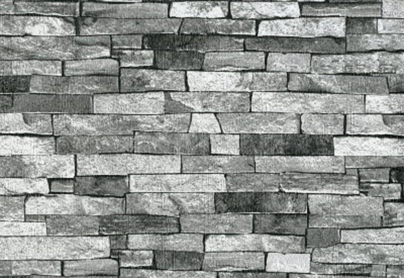 ps international texturiert ziegel stein schiefer tapete. Black Bedroom Furniture Sets. Home Design Ideas