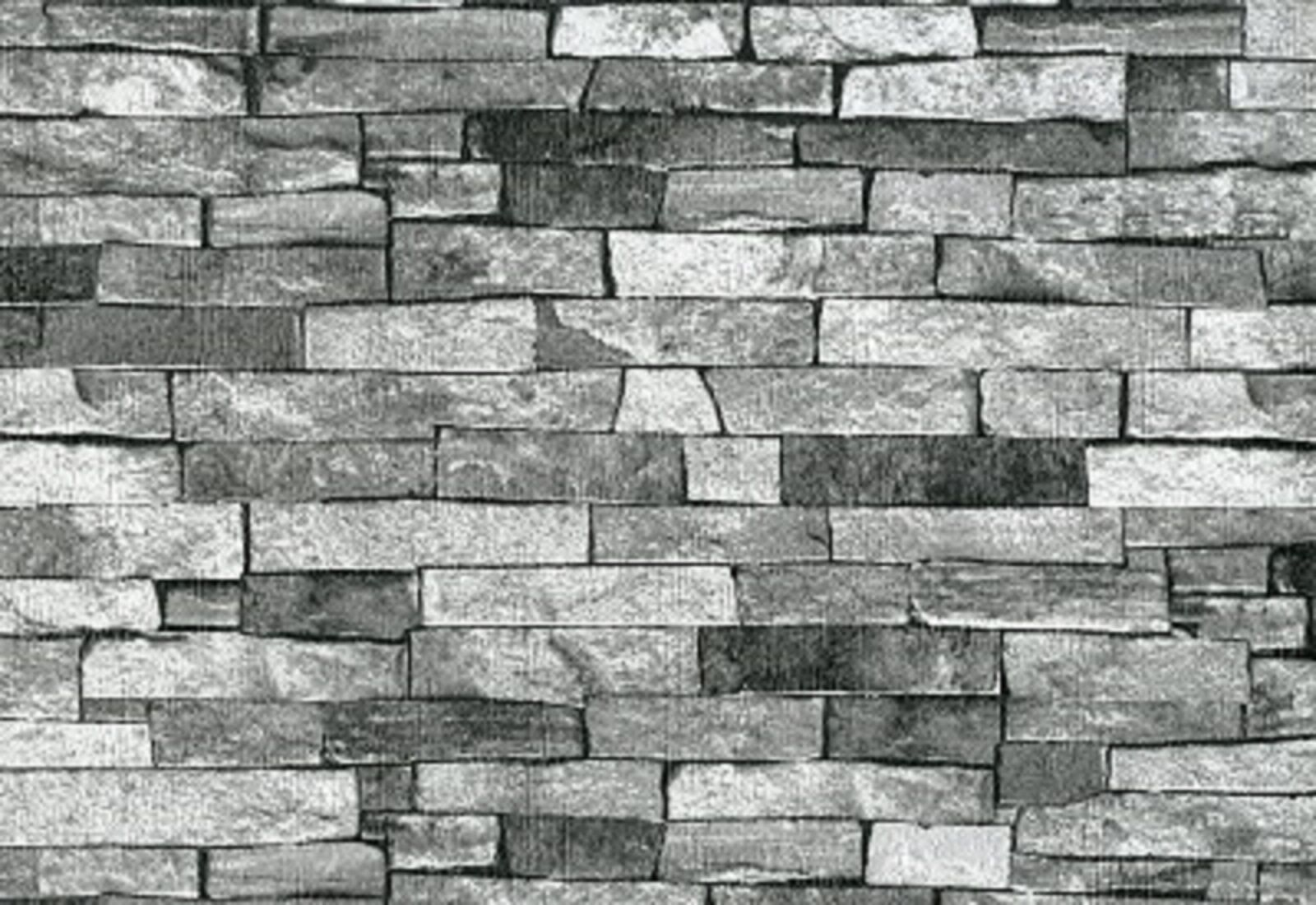 Ps international con textura ladrillo piedra pizarra papel for Papel pintado piedra gris
