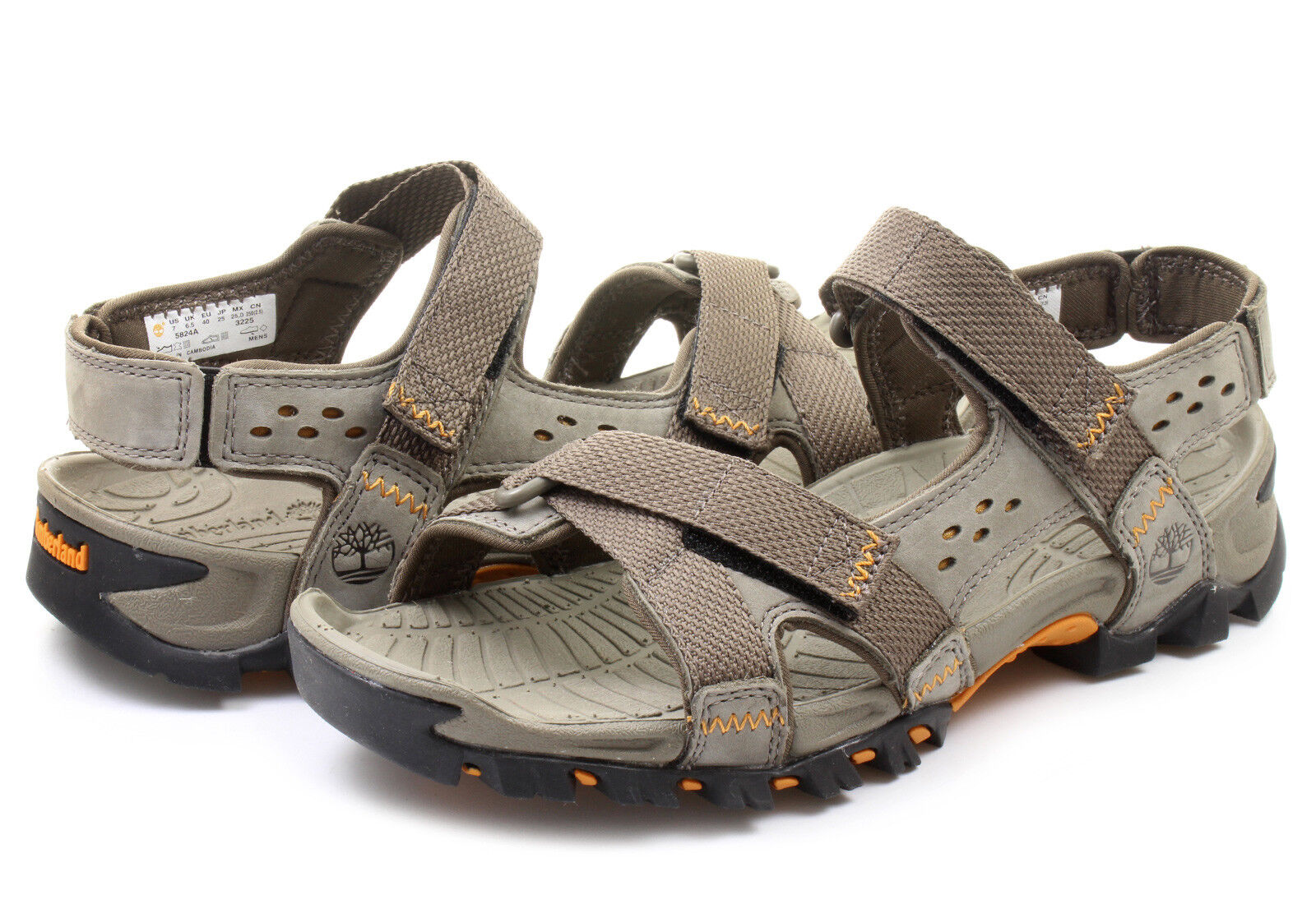 NEW! TIMBERLAND MEN'S  ELRIDGE LEATHER PEWTER SPORT SANDALS 5824A ALL SIZES USA