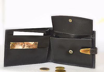 Herren Portemonnaie Geldbörse neu  Leder, 9 x 12 cm 1,5 cm tief, Farbe schwarz gebraucht kaufen  Berlin