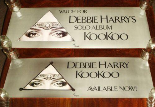 """Rare Vintage DEBBIE HARRY (BLONDIE) """"KooKoo"""" 1981 CHRYSALIS RECORDS PROMO POSTER"""