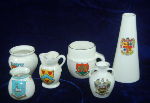 VINTAGE WH GOSS CRESTED CHINA - SIX WONDERFUL PIECES