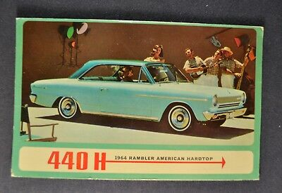 1964 Rambler American Hardtop Postcard Brochure Nash AMC Nice Original 64