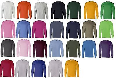 Fruit Of The Loom Tee Heavy Cotton Men/'s Long Sleeve T-Shirt 4930R 4930