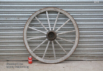 Vintage old wooden cart wagon wheel  / 94 cm - 22 kg - FREE DELIVERY