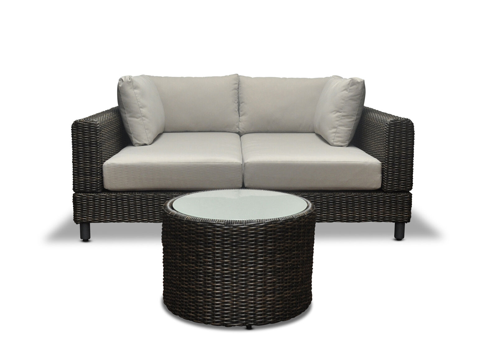 Modular wicker outdoor corner sofa chaise sun lounge for Chaise daybed sofa