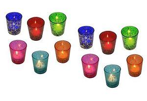 12 x Tea Light Candle Holders Moroccan Glass Tealight Votive Wedding Bulk Set