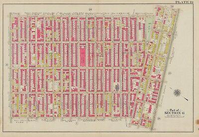 1908 BEDFORD STUYVESANT BROOKLYN NY 13TH REGIMENT ARMORY FULTON PARK ATLAS MAP
