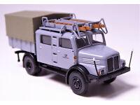 H0 BREKINA IFA S 4000-1 Drehleiterfahrzeug DL 25 Feuerwehr Sonneberg DDR # 71733