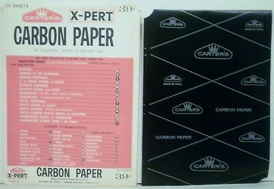 19 NEW Sheets of Carter's X-Pert Carbon Paper