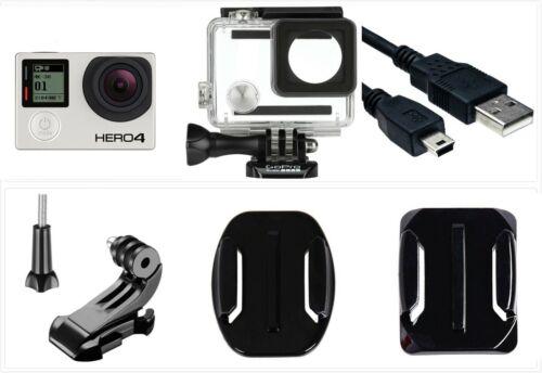 Used GoPro HERO 4 Black Edition 4K 1080P Camera Camcorder waterproof case WiFi