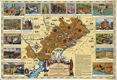 1780 map Plan of the Town Harbor Charleston in South Carolina POSTER 0010jh