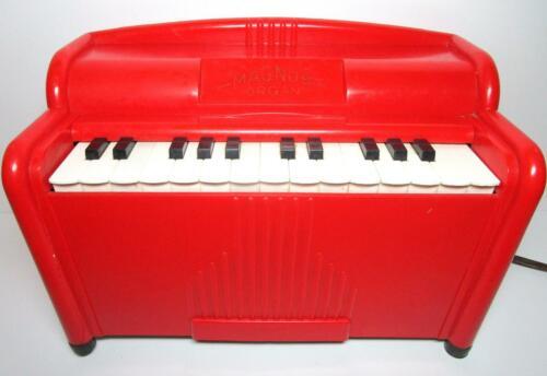 RED BAKELITE MAGNUS TABLETOP ELECTRIC ORGAN #1510 1950