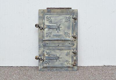 39 x 24.5 cm old cast iron fire bread oven door doors flue clay range pizza