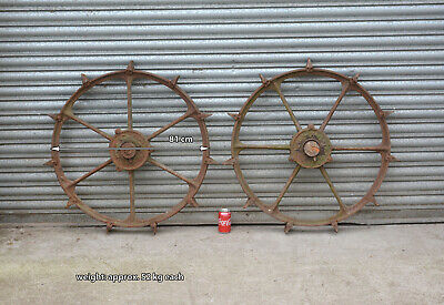iron machinery tractor wheels pair iron wheels BLACKSTONE STAMFORD  - 81 cm