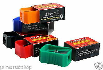 100x Nataraj 621 Pencil Sharpener 5 Color Home School Office Stationary