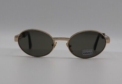 Gianni Versace Vintage Medusa Gold Tempered Glass MOD S15 Men Women's Sunglasses