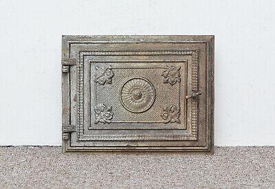 32 x 25 cm old cast iron fire bread oven door doors clay range pizza