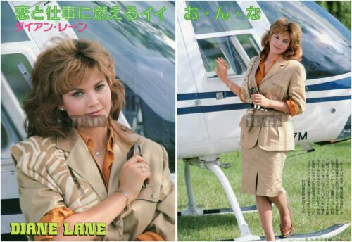DIANE LANE 1987 Japan Picture Clippings 2-SHEETS ph/p