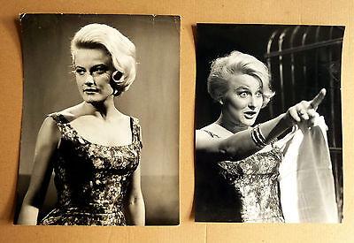 MONICA ZETTERLUND * 2 PRESSEFOTOS div. Grössen PHOTOS Vintage ´60er MUSIK + FILM
