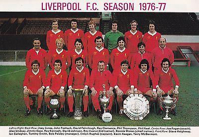LIVERPOOL FOOTBALL TEAM PHOTO 1976-77 SEASON