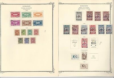 Lebanon Collection 1924-1972 on Scott Specialty Pages, Around 80 Pages