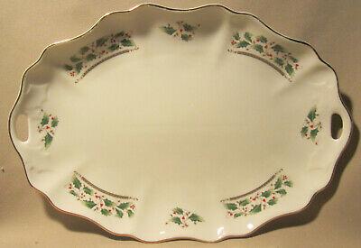 Royal Limited Holly Holiday Medium Oval Serving Platter 14