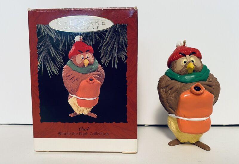 Hallmark Keepsake Christmas Ornament Disney Owl Winnie-The-Pooh FREE SHIPPING