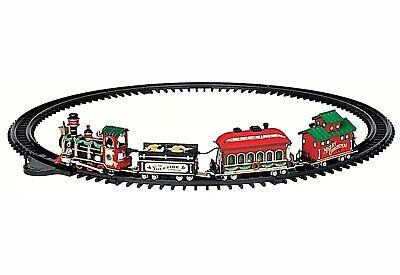 Lemax New 24472 YULETIDE EXPRESS TRAIN SET 16 Pc Christmas Village Decor Xmas