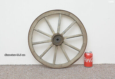 Vintage old wooden cart wagon wheel  / 43.5 cm  - FREE DELIVERY