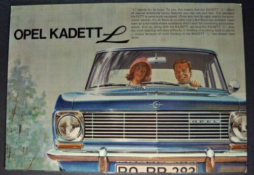 1965 Opel Kadett L Sales Brochure Folder Excellent Original 65