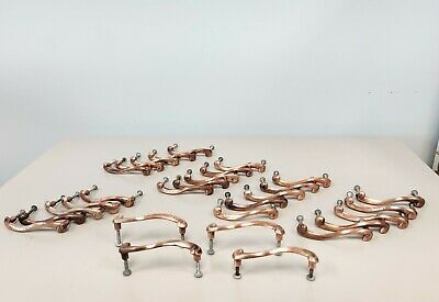 3 Vintage Mid Century Modern Atomic Brass Bow Tie Cabinet Drawer Pulls