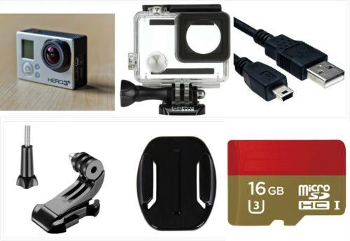 Refurbished GoPro HERO 3+ Plus Black 4K HD Sport Camera waterproof case 16G card