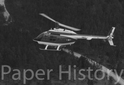 Authentic 1968 TH-57A JetRanger Helicopter Military 8x10 Photo HT-8 Pensacola FL