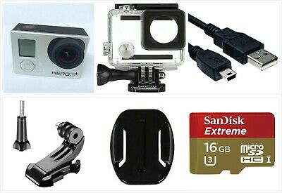 Used GoPro HERO 3+ Plus Silver 1080P HD Sport Action Camera waterproof 16GB SD