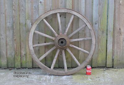 Vintage old wooden cart wagon wheel  / 85 cm - 24 kg - FREE DELIVERY