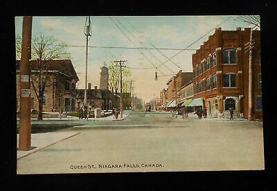 1909 Queen St. Trolley Old Stores Antique Street Light Niagara Falls ON (Queen St Stores)