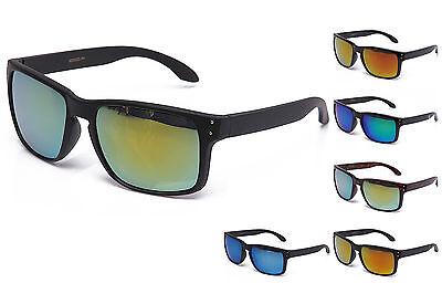 Keyhold Sports Sunglasses Classic Flash Mirror Lens Plastic Frame UV (Cheap Plastic Lenses)