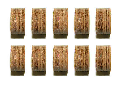 Lot of 10 Leather Layered Pool  - Billiard Cue Tips 13 mm Medium