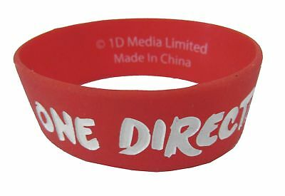 One Direction Wristband - One Direction 1D Embossed Logo Red Silicone Wristband New Official Band Merch
