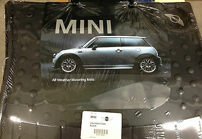 2002 to 2006 Mini Cooper Hardtop Rubber Floor Mats - FACTORY OEM ITEM - Set of 4