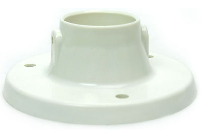 2-Pack Plastic Above Ground Deck Flanges to Mount Swimming Pool Ladder