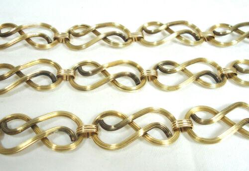 VTG Art Deco Large Link Sterling Necklace & Bracelet Set 1/20 12K GF 66.2 gr.