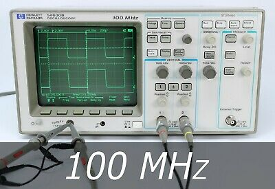 Hp Agilent 54600b 2-channel 100 Mhz Oscilloscope 2 New Probes. Very Clean